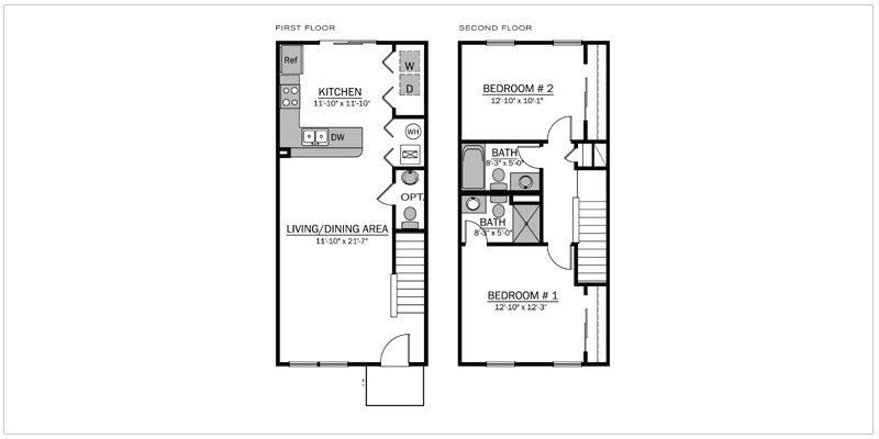 Bentley II Floorplan | The Mill at Georgetown Apartments
